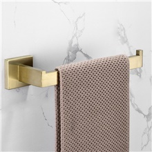 Luxurious / Best Quality / Fashion Towel Bar New Design / Creative Contemporary / Modern Stainless Steel / Low-carbon Steel / Metal 1pc - Bathroom Single / towel ring Wall Mounted Golden,Rectangle