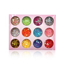 12 pcs Relaxed Fit / Universal Plastics Sequins For Finger Nail Heart nail art Manicure Pedicure Daily Fashion / Colorful 1#