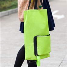 Foldable Oxford cloth tug bag shopping cart fashion home trolley cart shopping bag folding tug Stainless Steel,Apple Green