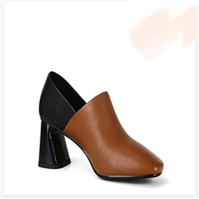 Women's Boots Chunky Heel Round Toe Suede Mid-Calf Boots Winter Brown / Black Brown,US5 / EU35 / UK3 / CN34