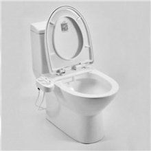 Bidet Smart Self Cleaning Nozzle - Fresh Water Non-Electric Mechanical Bidet Toilet Attachment White Other Countries