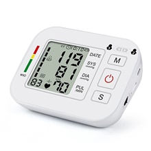 Portable Medical Blood Pressure Measurement, Automatic Digital BP Monitor with Upper Arm Cuff for Home Testing White