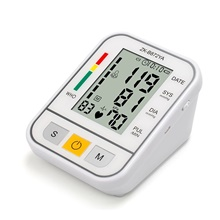 Portable Blood Pressure Monitor, Automatic Digital BP Machine with Upper Arm Cuff for Home Testing White