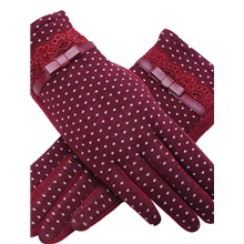 Women's Basic Cotton Wrist Length Fingertips Gloves - Solid Colored