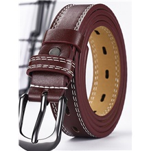 Men's Basic Waist Belt - Solid Colored Wine