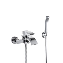 Shower Set Set - Handshower Included Fixed Mount Multi Spray Shower Contemporary Electroplated Wall Mounted Brass Valve Bath Shower Mixer Taps