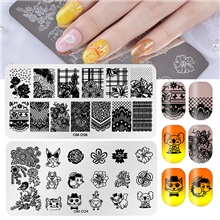 2 pcs Nail Stamping Tool Stamping Plate Template Animal Series / Flower Series Creative / Durable nail art Manicure Pedicure Korean / Fashion Sports & Outdoor