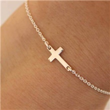 Women's Bracelet Two tone Cross Casual / Sporty Alloy Bracelet Jewelry Gold / Silver For Daily Gold
