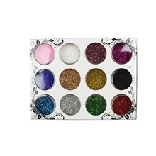 12 pcs Plastic Glitter Aluminium Foil Creative Trendy Hyperbole Sports & Outdoor Daily Festival Nail Jewelry Sequins Pearls for Finger Nail 1#