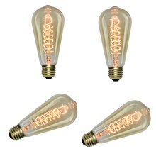 6pcs / 4pcs 40 W E26 / E27 ST64 Warm White Retro / Creative / Dimmable Incandescent Vintage Edison Light Bulb 220-240 V Warm White,220-240V,E26 / E27,4