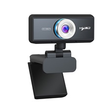 HXSJ Business Conference Webcam S4 HD+ 1080P Conference Call Home Video Streaming Black