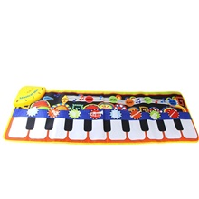 Keyboard Toy Music Mat Toy Floor 19 Piano Key Piano Playmat Educational Toys Cloth Boys and Girls Kids Graduation Gifts Toy Gift / CE Certified Red