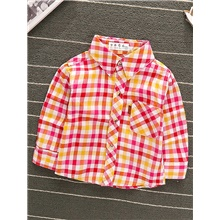 Baby Boys' Basic Red Houndstooth Long Sleeve Blouse Red Red,9-12 Months(80cm)