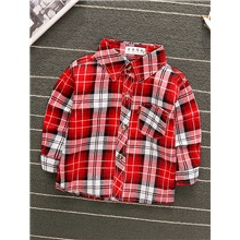 Baby Boys' Basic Red Striped Long Sleeve Blouse Red Red,9-12 Months(80cm)
