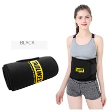Back Brace Back Support / Lumbar Support Belt Waist Trimmer / Sauna Belt for Running Fitness Gym Workout Adjustable Compression Breathable Tummy Fat Burner Sweat Out Men's Women's Nylon Emulsion 1 Black,M