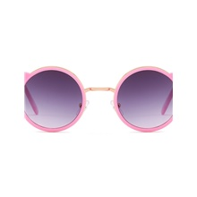 Infant Unisex Color Block Glasses Fuchsia / Gold / Silver Fuchsia