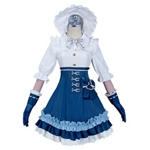 Lolita Princess Lolita Gothic Dress Women's Japanese Cosplay Costumes White Vintage Juliet Sleeve Above Knee White,S