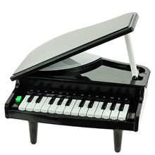 Piano Musical Toy Foldable Music Education Plastics Boys and Girls Kids 1 pcs Graduation Gifts Toy Gift Black