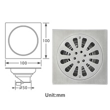 Drain New Design Contemporary Stainless Steel Bathroom Floor Mounted A