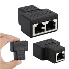1 to 2 LAN Ethernet Network RJ45 Splitter Extender Plug Adapter Connector RJ45 network tee head