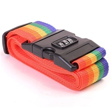 Bags Accessories Luggage Strap Adjustable Password Lock Packing Belt Baggage Secure Lock Anti-theft Luggage Strap Bundling Belt Rainbow