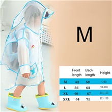 Children's Raincoat Solid Color Boys School Bag One-piece Poncho Long Walking Pupils Thickening Girls Raincoat Jacket M