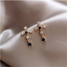 Women's Cubic Zirconia Stud Earrings Criss Cross Cross Trendy Modern Earrings Jewelry Gold For Wedding Party Daily Festival 1 Pair Gold