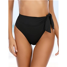 Women's Cheeky Bikini Bottoms Swimwear Swimsuit - Solid Colored S M L Black Black,S