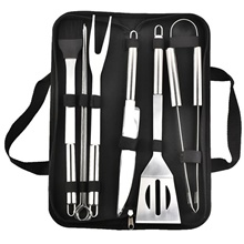 Bbq Barbecue Tool Set Stainless Steel Outdoor Barbecue Tool Combination Set Black