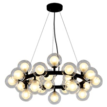 72 cm Globe Design Chandelier Metal Globe Electroplated  Painted Finishes Modern  Nordic Style Generic Warm White,Generic,Black