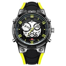 KT Men's Military Watch Quartz Modern Style Sporty Silicone Black Water Resistant / Waterproof Calendar / date / day Chronograph Analog Outdoor Cool - Black / Yellow Black / Yellow