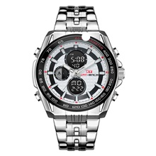 KT Men's Military Watch Digital Modern Style Sporty Stainless Steel Water Resistant / Waterproof Calendar / date / day Noctilucent Analog Casual Outdoor - Silver Silver