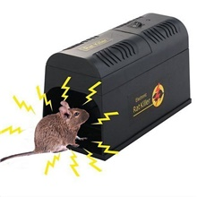 Electronic Rat And Rodent Trap Powfully Kill And Eliminate Rats Mice Or Other Similar Rodents Efficiently And Safely Rolled Canvas,Black