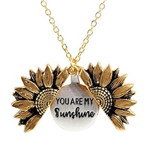 Pendant Necklace Statement Necklace Sunflower Statement European Trendy Rock Chrome Gold 51 cm Necklace Jewelry For Prom Street Birthday Party Beach Festival Gold