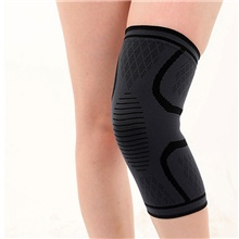 Knee Brace Knee Sleeve for Joint Pain and Arthretith Running Marathon Anti-slip Strap Compression Collision Avoidance Fast Dry Breathable Men's Women's Emulsion Spandex Fabric 1 Piece Sports Daily Black,S