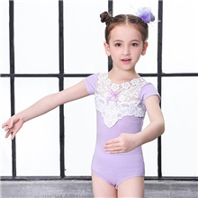Girls' Dancer Ballet Performance Dancing Dress Flower Style Princess Cotton Mauve Pink Blue Costume / Kid's Mauve,Kids XS