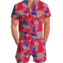 Men's Basic Red Romper Onesie, National Flag Print US32 / UK32 / EU40 US34 / UK34 / EU42 US36 / UK36 / EU44 Red,US32 / UK32 / EU40