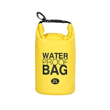 2 L Waterproof Dry Bag Lightweight Floating Roll Top Sack Keeps Gear Dry for Swimming Surfing Water Sports Yellow,2L