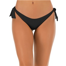 Women's Cheeky Bikini Bottoms Swimwear Swimsuit - Solid Colored S M L Black Red Black,S