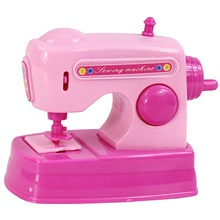 Pretend Play Plastics Sewing Machine Mini Novelty Electric Kid's All Gifts Blushing Pink