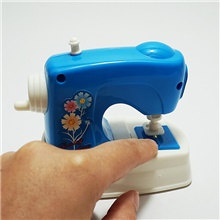 Pretend Play Plastics Sewing Machine Mini Novelty Electric Kid's All Gifts Blue