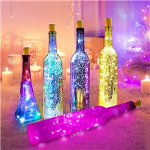 5pcs 2M 20LED Wine Bottle Lights Button Battery Powered Garland Fairy Christmas LED String Lights For Halloween Party Wedding Decoration