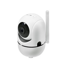 Wireless IP Camera Wifi Camera Smart Auto Tracking Human Home Security Surveillance CCTV Network 720P Camera EU Adapter,White