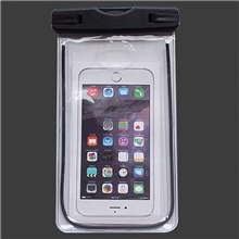 Protective Bag Mobile Phone Bag for Lightweight Rain Waterproof Wearable 6 inch PVC(PolyVinyl Chloride) 3 m Black,One-Size