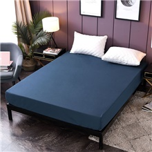 Premium Smooth Fabric Mattress Protector-100% Waterproof-Hypoallergenic(Only 1 Fitted Sheet) Single / Twin Size,Navy