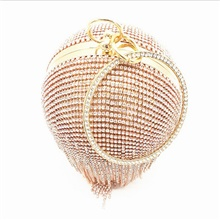 Women's Crystals PU Leather Clutch Wedding Bags Solid Color Gold Gold