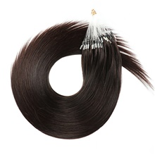 Micro Ring Hair Extensions Human Hair Extensions Straight Human Hair Brazilian Hair 50 pcs Easy to Carry Women Women's Natural Black #1B 1g / Strand,50 Strands / Pack,Natural Black #1B,16 inch