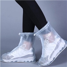 Unisex Shoe Cover Solid Colored Antibacterial PVC(PolyVinyl Chloride) EU40-EU46 White