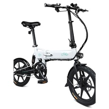 FIIDO D2 Folding Electric Moped Bike City Bike Commuter Bike Three Riding Modes 16 Inch Tires 250W Motor 25km/h 7.8Ah Lithium Battery 20-35KM Range White