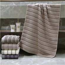 Superior Quality Wash Cloth, Striped Poly / Cotton Bedroom 1 pcs Light Brown
